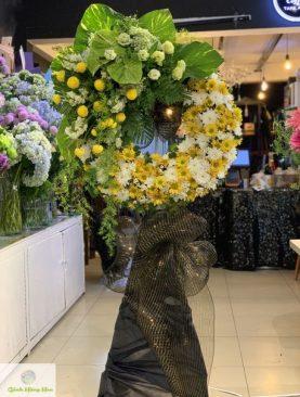 Vòng hoa chia buồn Viên Mãn Cực Lạc