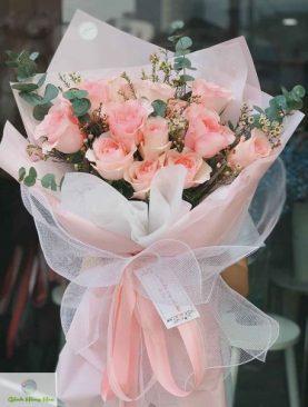 Hoa bó Tình bạn thắm thiết - Hoa hồng nhập khẩu