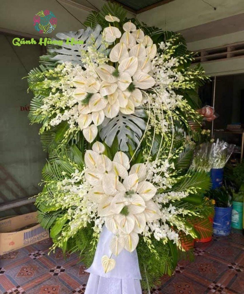hình ảnh vòng hoa tang