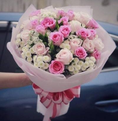 bó hoa hồng tỷ muội