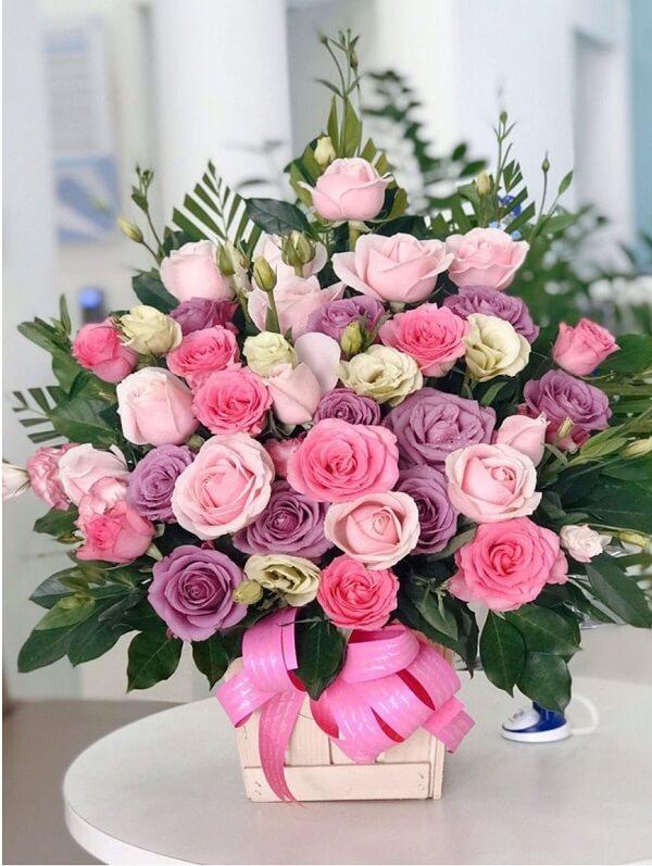 giỏ hoa tặng mẹ ý nghĩa và đẹp