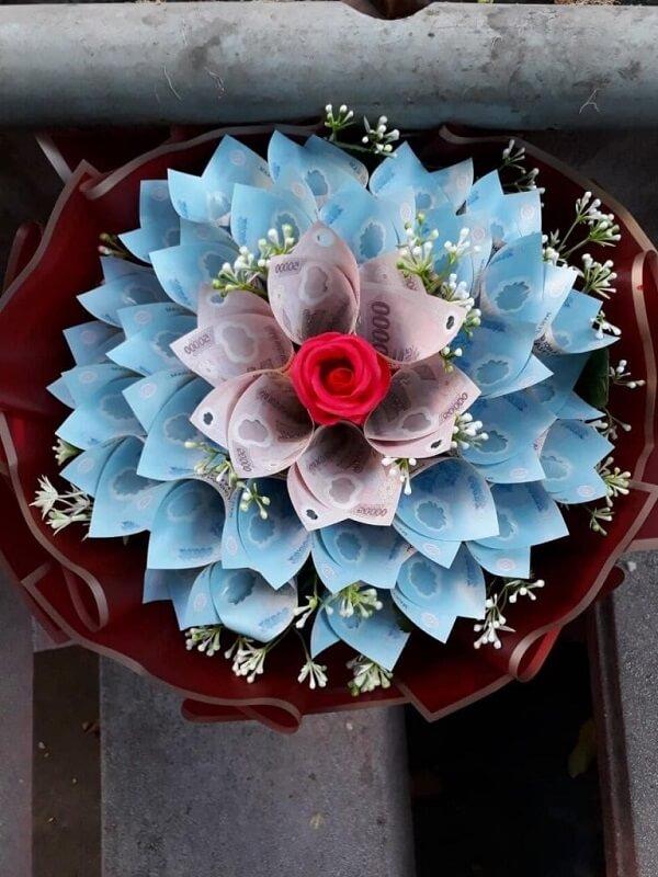Hoa bằng tiền polyme 50k