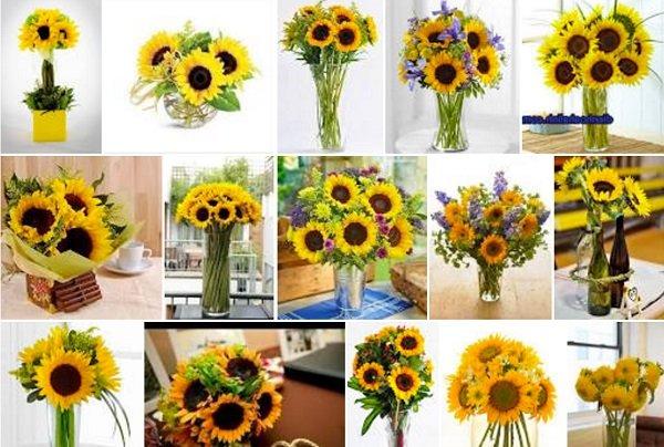 Đa dạng cách cắm hoa hướng dương tại nhà